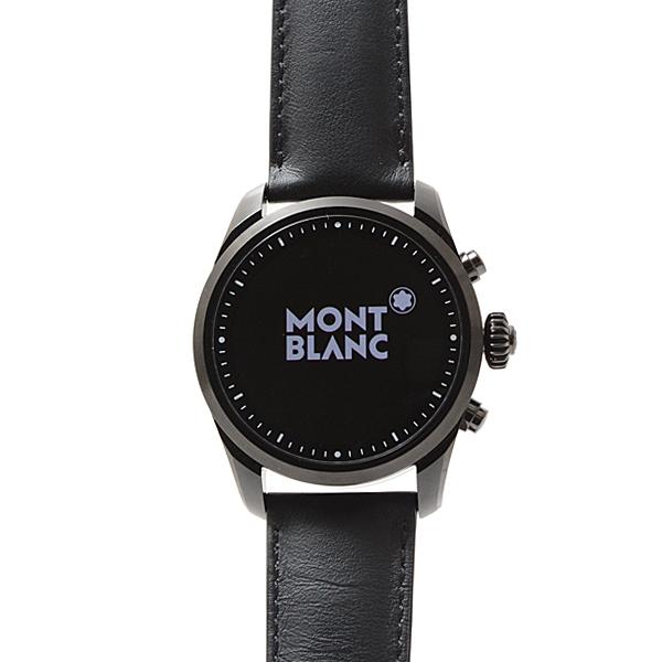 モンブラン サミット2 スマートウォッチ 腕時計 メンズ ブラック 革 119438 MONTBLANC【未使用展示品】