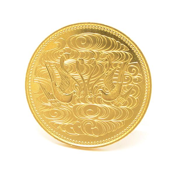 【残りわずか】 天皇陛下御在位60年記念 10万円金貨幣 昭和61年 記念硬貨 コイン 純金 24K 19.9g【】, 我路屋はん工房 449cd954