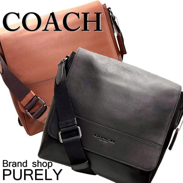 Coach Bag Men Shoulder Leather Houston Map F68015 Mmm