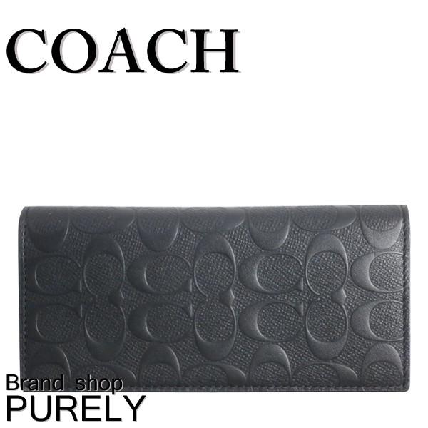 ★全品ポイント2倍★コーチ COACH 財布 二つ折り財布 メンズ アウトレット レザー シグネチャー カーフ F75365 BLK コーチ COACH メンズ