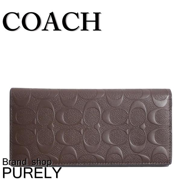 ★全品ポイント2倍★コーチ COACH 財布 二つ折り財布 メンズ アウトレット レザー シグネチャー カーフ F75365 MAH コーチ COACH メンズ