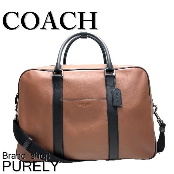 Coach Bag Men Boston Traveling Leather Over Knight F27614 Qb Sd Saddle Mmm