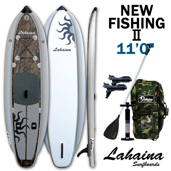 LAHAINA NEW FISHING2 11' 釣り用SUP カモ/グレー