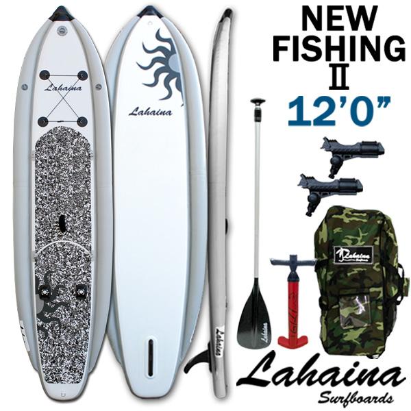 SUP サップ インフレータブルパドルボード ラハイナフィッシング / LAHAINA NEW FISHING2 12'0 釣り用SUP ホワイト/グレー スタンドアップパドルボード