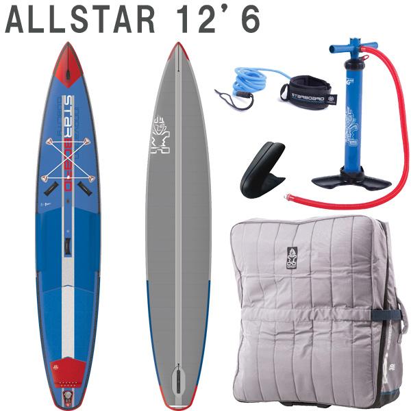 取り寄せ商品 2019 STARBOARD DX AIRLINE ALLSTAR 12'6 X 27 X 6.0 スターボード デラックス SUP インフレータブル パドルボード サップ