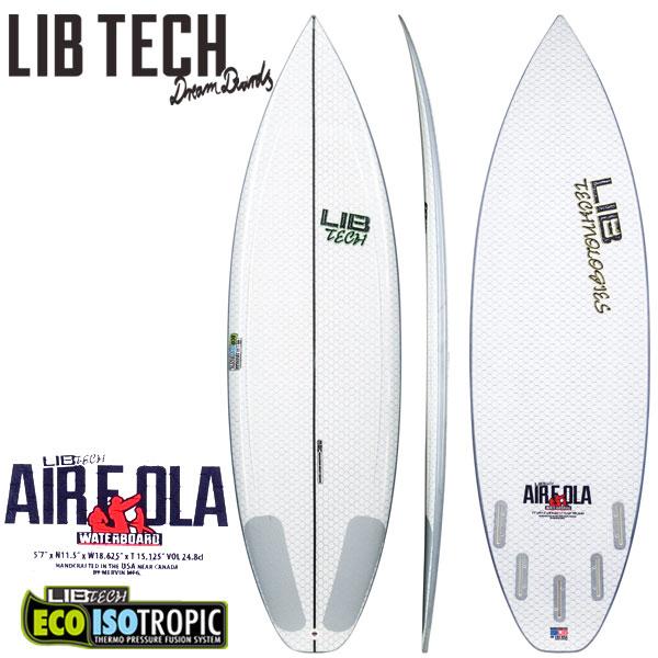 取り寄せ商品 LIBTECH AIR E OLA / リブテック エアーエロア サーフボード ショートボード サーフィン 営業所止め 送料無料