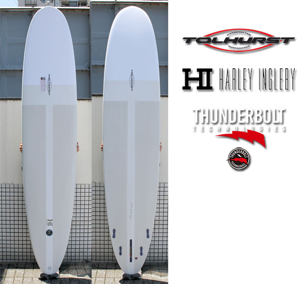HARLEYINGLEBY TOLHURST DIAMOND DRIVE 9'2 XEON FIBER/ジオンファイバー サンダーボルト トンビ製 ロングボード サーフボード 営業所止め 送料無料 サーフィン