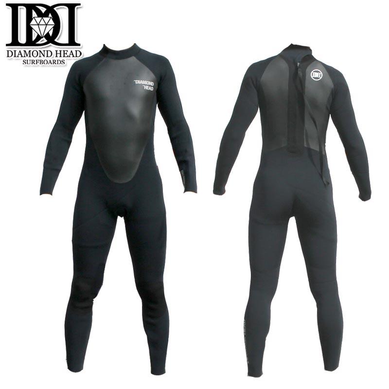 ダイアモンドヘッド ウエットスーツ 3/2フルスーツ すくい縫い加工 DIAMONDHEAD 春夏用 メンズウェットスーツ サーフィン