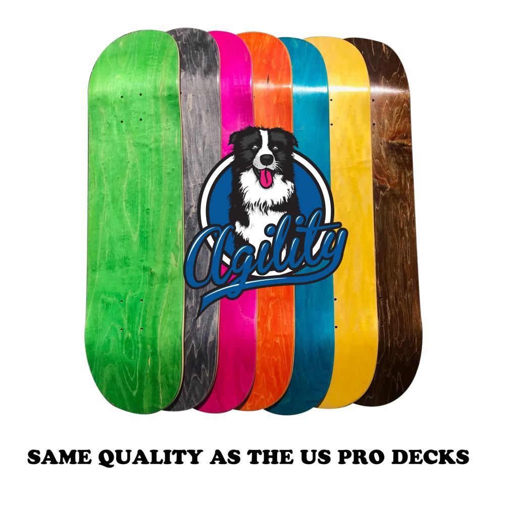 3枚まとめ買い!! AGILITY デラックスプレス ブランクデッキ スケートボード