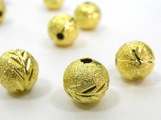 目を惹くスペーサー スペーサー 丸玉 ゴールド 8mm (約50個入り) チベタン 金属パーツ メタルビーズ アクセサリーパーツ ハンドメイド DIY