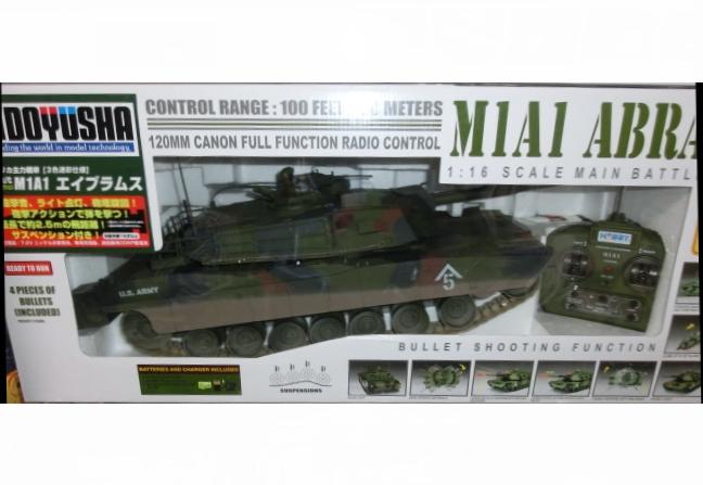 【激安セール】 M1A2 エイブラムス 戦車 3色迷彩仕様 RC ラジコン 1/16, カッティングステッカーの銀影工房 03859e93