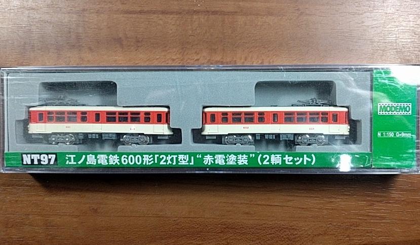 江ノ島電鉄60形「2灯式」赤電塗装(2輌セット) モデモ NT97 MODEMO(Nゲージ私鉄電車) 【新品】