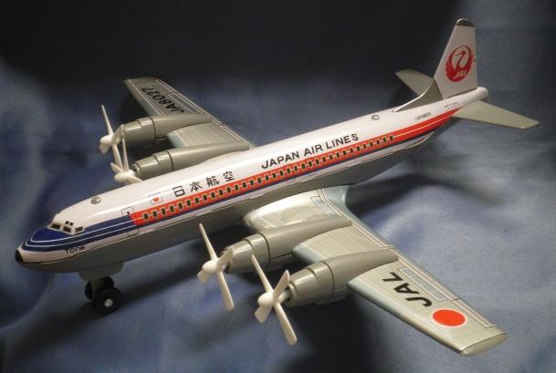 日本航空 ブリキ フリクショントーイ 4発プロペラ機38cm 日本製 Made In Japan 希少品