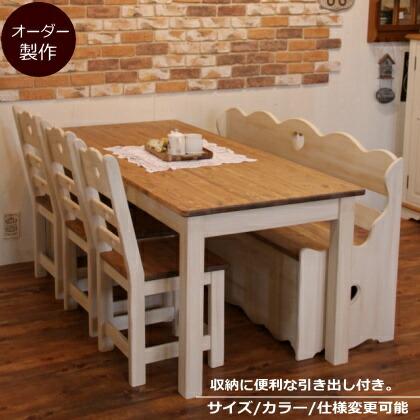 楽天市場テーブル カントリー nc ダイニングテーブル ベンチ セット