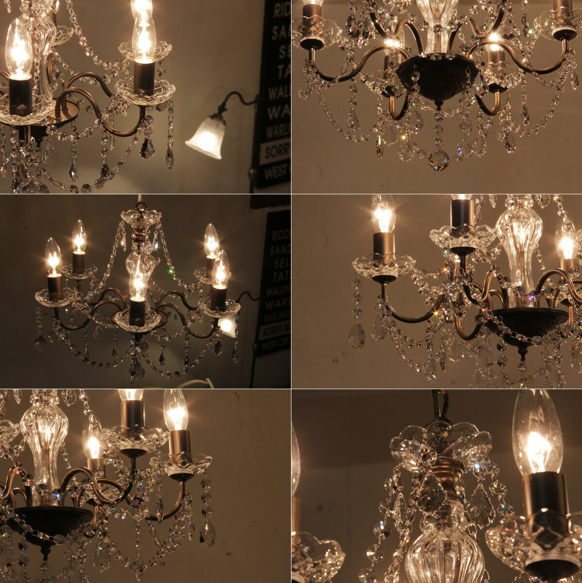 Swarovski Crystal Dollhouse Chandelier: Auc-can-doll: OS-001/6 SWDX Swarovski Crystal Chandeliers