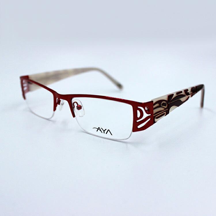 メガネ AYA Optical Eyewear【 Kayla 】 カナダ 先住民 ネイティブ インディアン 眼鏡 伊達メガネ Wolf Orca Raven RED/CREAM