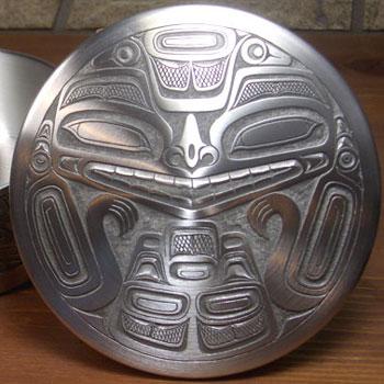 ネイティブ ギフトボックス カナダ 先住民 インディアン BOMA製 [ BEAR MASK PEWTER BOX ] ベアー熊 大  送料無料
