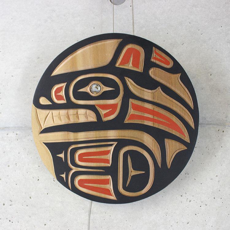 カービング タペストリ 木彫刻 アート 壁掛 カナダ 先住民 ネイティブ インディアン [ Orca オルカ] SQUAMISH スクアミッシュ族 Harvey John