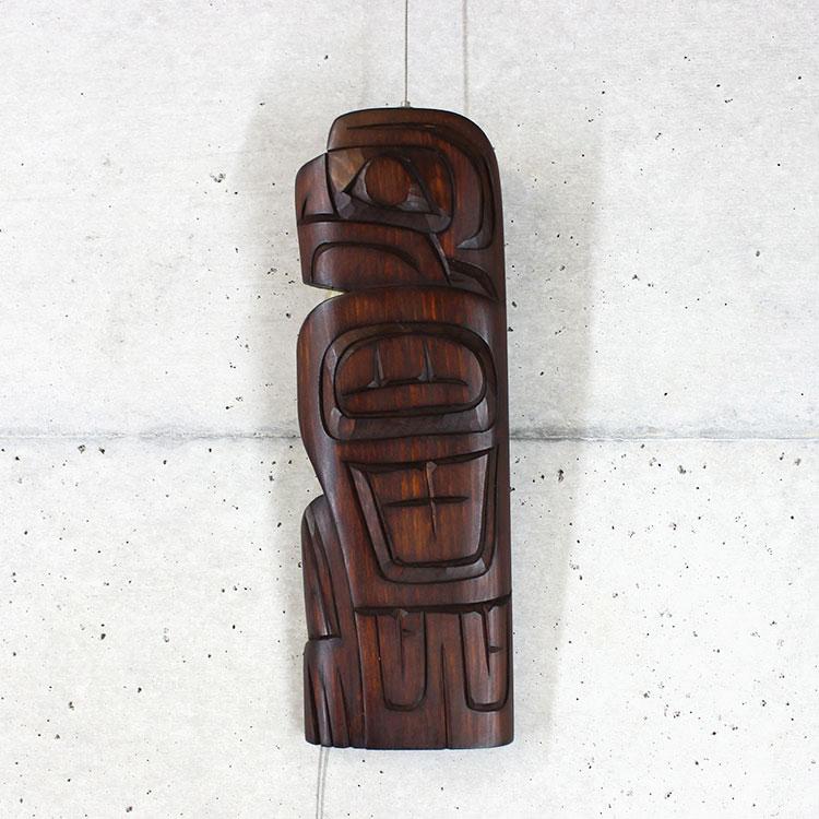 カービング タペストリ 木彫刻 アート 壁掛 カナダ 先住民 ネイティブ インディアン [ EAGLE 鷲] SQUAMISH スクアミッシュ族 Richard Krawchunk