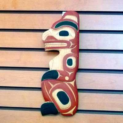 カービング タペストリ 木彫刻 アート 壁掛 カナダ 先住民 ネイティブ インディアン [ BEAR 熊 ] SQUAMISH スクアミッシュ族 JOHN GONZALES  送料無料