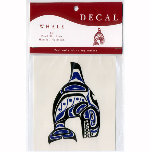 Whale stickers [stickers, transparent seal American sticker Canada indigenous Indian gadgets Orca killer whale DECAL [KILLERWHALE]