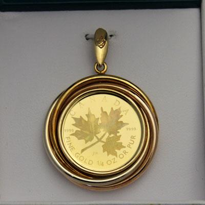 Canadian spirits rakuten global market gold maple leaf hologram gold maple leaf hologram gold premium pendant 10 1 4 in 2001 millennium aloadofball Choice Image