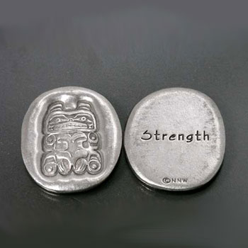 Pocket spirit coin amulet Canada indigenous native Indian goods the STRENGTH vitality patience,
