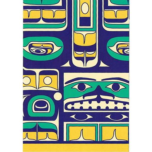 額に入れて 飾って インテリア に ネイティブ 激安格安割引情報満載 ポストカード アート イラスト 先住民 Transition インディアン カナダ Chilkat お求めやすく価格改定 雑貨 デザイン