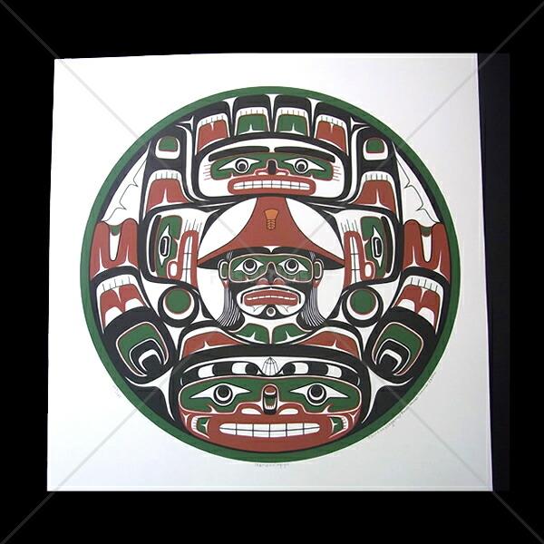 アート シルクスクリーン 画 カナダ 先住民 ネイティブ インディアン 限定エディション 128/170 [ NAMXXELAIYU ]  送料無料