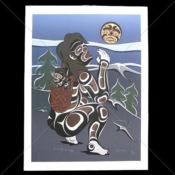 アート シルクスクリーン 画 カナダ 先住民 ネイティブ インディアン 限定エディション 115/145 [ TSONOQUA ]  送料無料