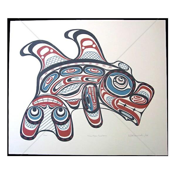 アート シルクスクリーン 画 カナダ 先住民 126/200 ネイティブ インディアン 限定エディション 画 送料無料 126/200 [ KITASOO DOUBLE-FINNED WHALE ] 送料無料, JAアオレン:884eb6dc --- sunward.msk.ru