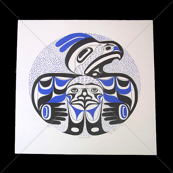 アート シルクスクリーン 画 カナダ 先住民 ネイティブ インディアン 限定エディション 185/200 [ CHIMQS-TNNI ]  送料無料