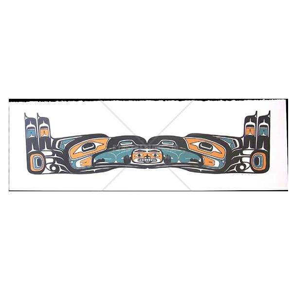 アート シルクスクリーン 画 カナダ 先住民 ネイティブ インディアン 限定エディション 142/200 [ CHILKAT RAVEN ]  送料無料