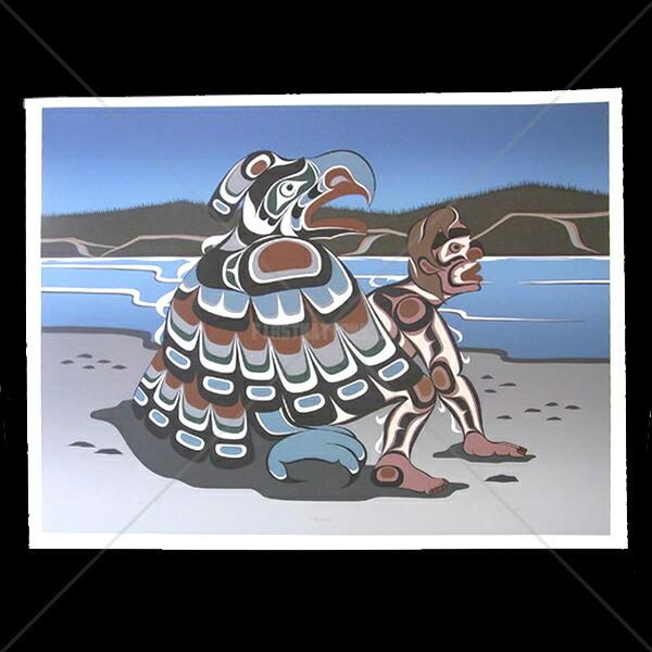 アート シルクスクリーン 画 カナダ 先住民 ネイティブ インディアン 限定エディション 133/150 [ KOLUS SPIRIT ]  送料無料