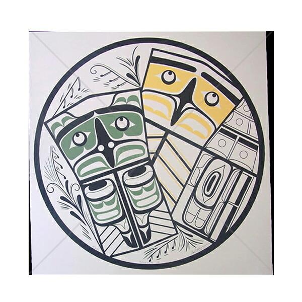 アート シルクスクリーン 画 カナダ 先住民 ネイティブ インディアン 限定エディション 11/700 [ SIBAXOLA ]  送料無料