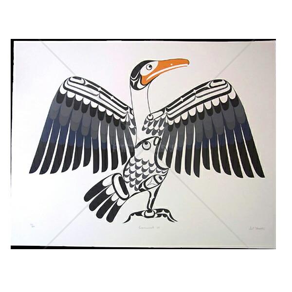 アート シルクスクリーン 画 画 カナダ 先住民 ネイティブ インディアン インディアン 限定エディション 64 先住民/200 [ CORMORANT ] 送料無料, イルマグン:10f4663c --- sunward.msk.ru