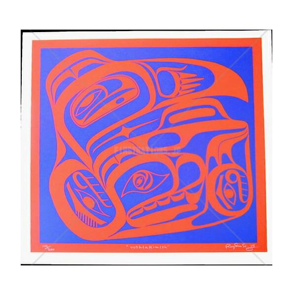 アート シルクスクリーン 画 カナダ 先住民 ネイティブ インディアン 限定エディション 114/200 [ UUSHTAKIMLTH ]  送料無料