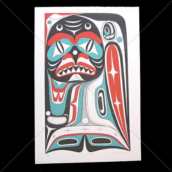 アート シルクスクリーン 画 カナダ 先住民 ネイティブ インディアン 限定エディション 140/160 [ DOG DAYS OF SUMMER ]  送料無料