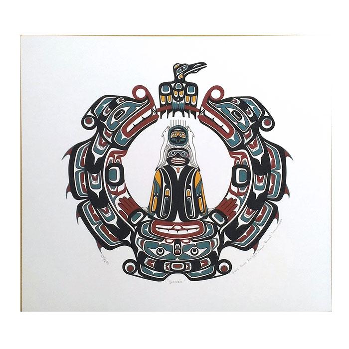アート シルクスクリーン 画 GANA'O カナダ [ 先住民 ネイティブ カナダ インディアン 限定エディション 130/170 [ GANA'O ], 松屋漆器店:e32480de --- sunward.msk.ru