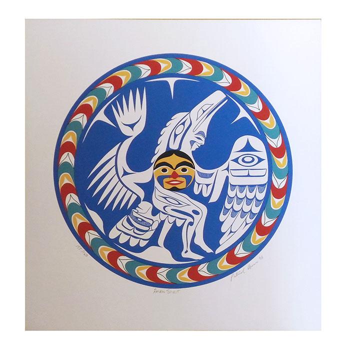 アート シルクスクリーン 画 カナダ 先住民 ネイティブ インディアン 限定エディション 155/160 [ RAVEN SPIRIT ]