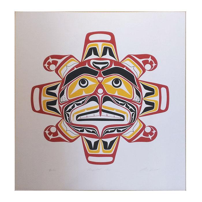 アート シルクスクリーン 画 カナダ 先住民 ネイティブ インディアン 限定エディション 72/200 [ KWAGULTH SUN ]