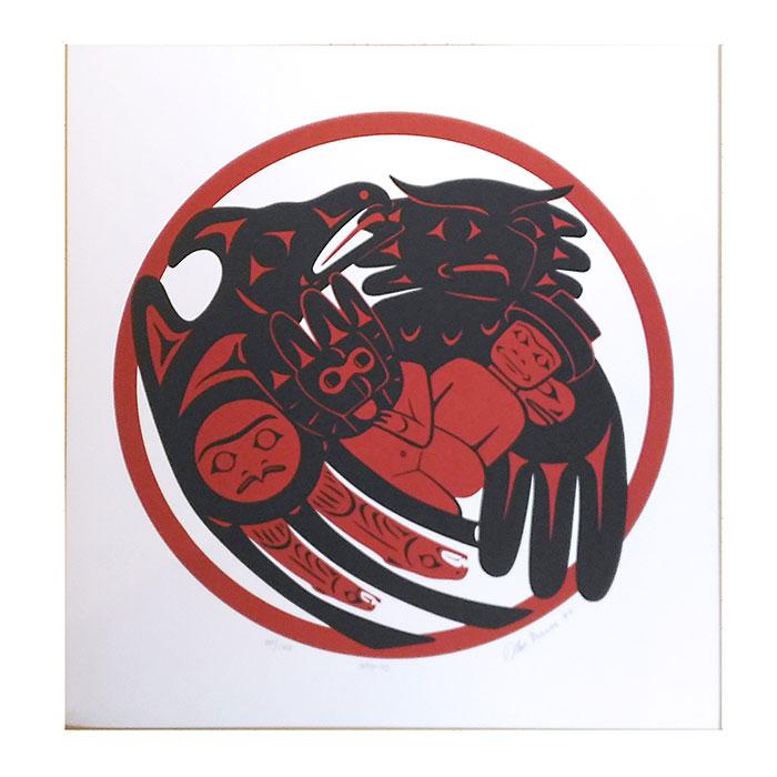 アート シルクスクリーン 画 カナダ 先住民 ネイティブ インディアン 限定エディション 161/170 [ STO-LO ]