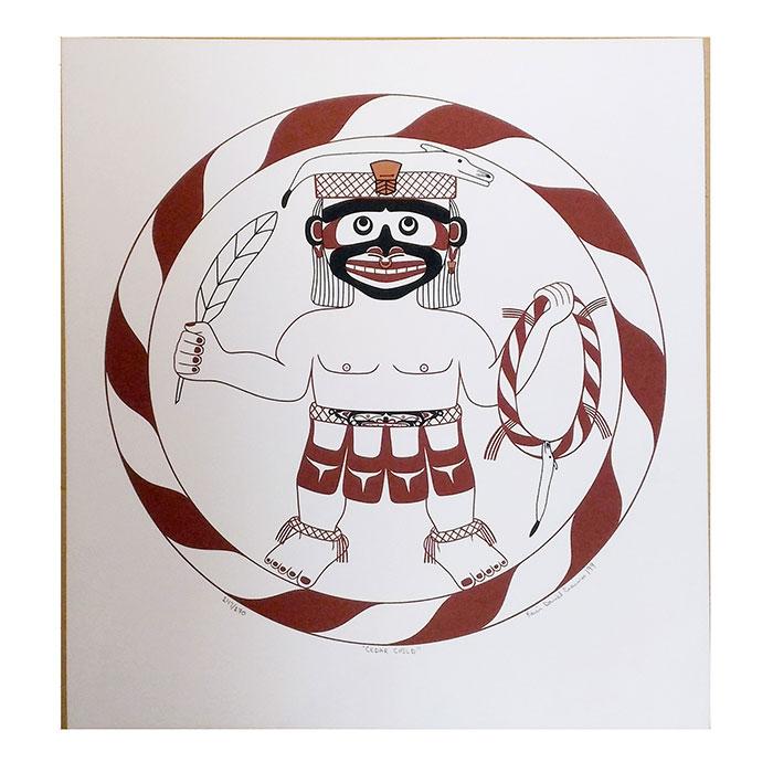 アート アート シルクスクリーン 画 カナダ 先住民 ネイティブ インディアン 限定エディション 147 147/170 [/170 [ CEDAR CHILD ], 相馬村:f2eecfbf --- mail.ciencianet.com.ar