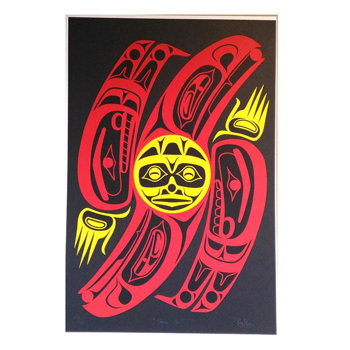 アート シルクスクリーン 画 カナダ 先住民 ネイティブ インディアン 限定エディション 133/150 [ SHINE ON ]