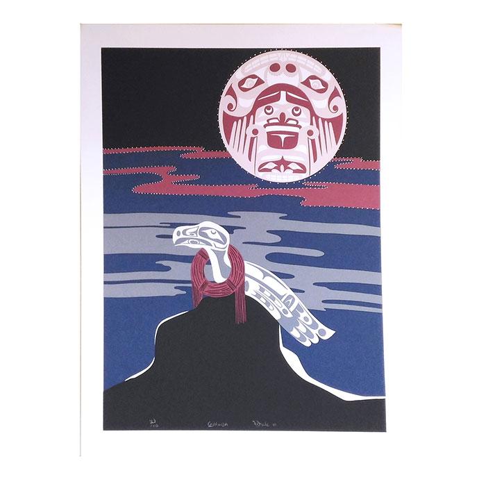 アート シルクスクリーン 画 カナダ 先住民 ネイティブ インディアン 限定エディション 49/100 [ GALUDA ]