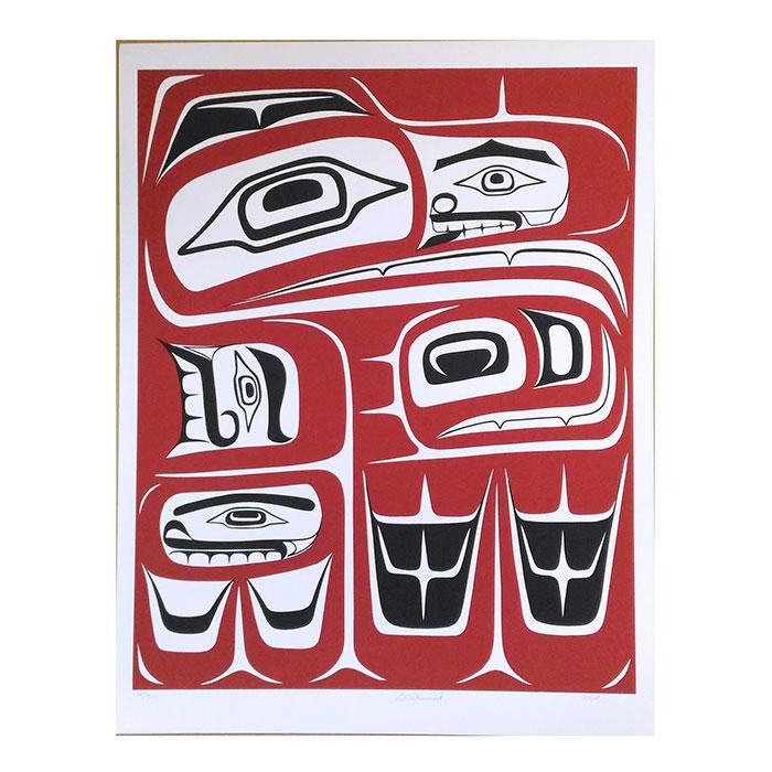 インテリア オブジェ 絵画 アート 画 シルクスクリーン カナダ 200 ●スーパーSALE● セール期間限定 ネイティブ 限定エディション SEAGULL インディアン 期間限定 先住民 147