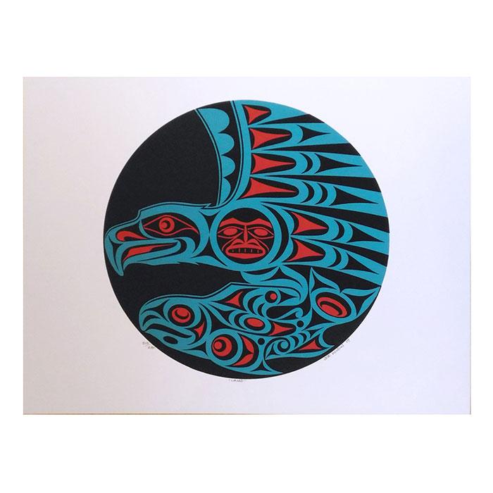アート シルクスクリーン 画 カナダ 先住民 ネイティブ インディアン 限定エディション 210/280 [ LAND ]