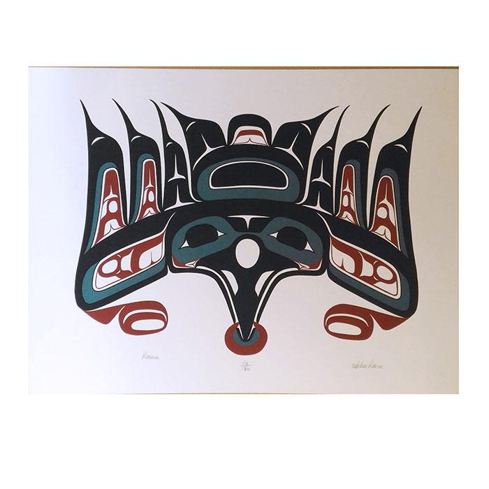 アート シルクスクリーン 画 インディアン カナダ カナダ 先住民 ネイティブ インディアン 先住民 限定エディション 110/180 [ RAVEN ], 岩瀬郡:00d29357 --- mail.ciencianet.com.ar
