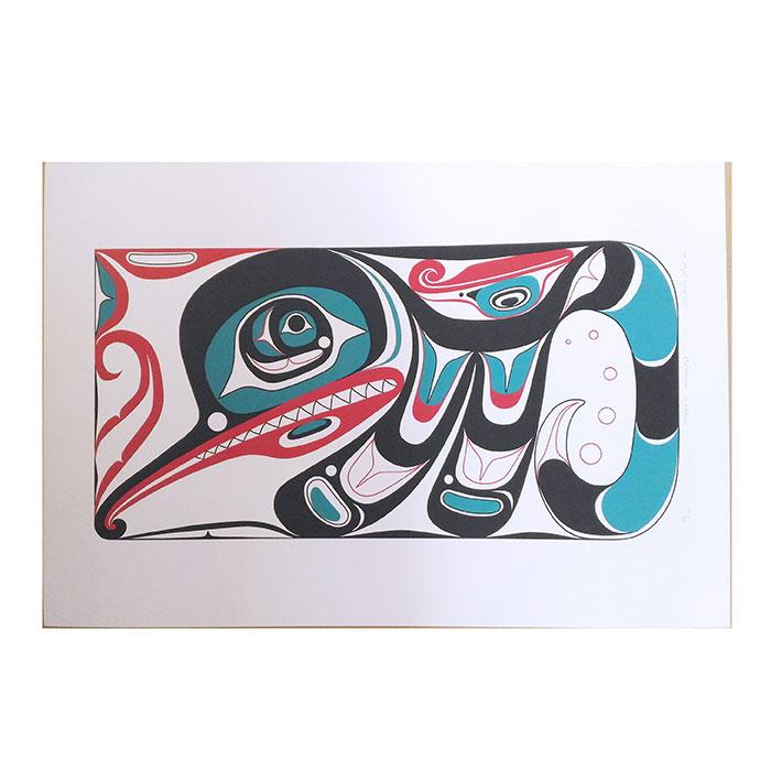 アート シルクスクリーン 画 カナダ 先住民 ネイティブ インディアン 限定エディション 49/100 [ HENRY'S DRAGONFLY ]