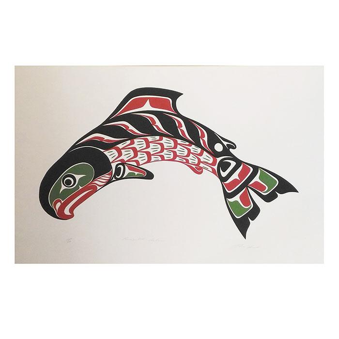 アート シルクスクリーン 画 カナダ 先住民 ネイティブ インディアン 限定エディション 164/200 [ KWAGULTH SALMON ]
